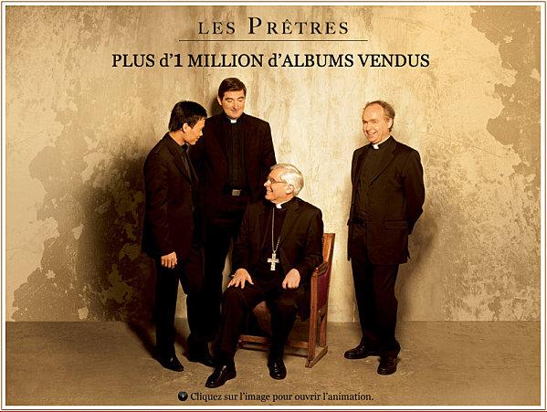 """""""Les Prêtres"""" entrent dans l'Histoire avec plus d'1 million d'albums vendus !"""