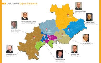 Carte du diocèse et des doyennés