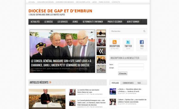 Lancement du nouveau site du diocèse