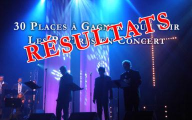 """Découvrez les résultats du concours """"30 places à gagner pour voir Les Prêtres en concert"""""""