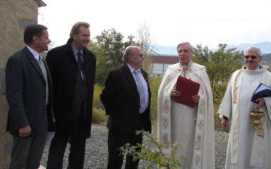 Bénédiction de l'oratoire Saint-Roch de Ventavon par Mgr Jean-Michel di Falco Léandri