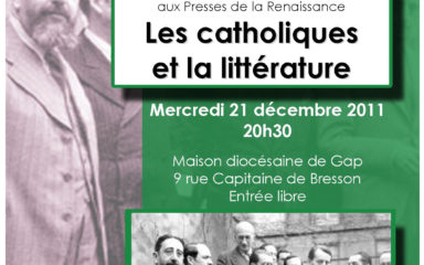 """Conférence """"Les catholiques et la littérature"""" par Thierry Paillard le 21 décembre à 20h30"""