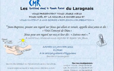 Les CMR vous invitent à une soirée réflexion-célébration à Eyguians