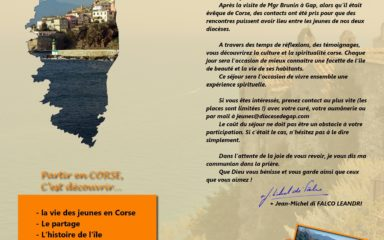 Pèlerinage des jeunes en Corse