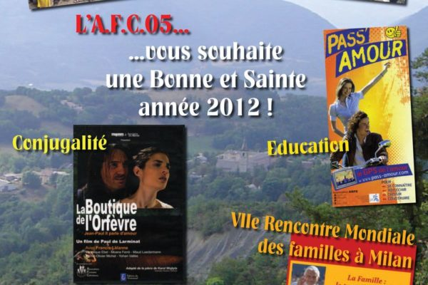 Au programme 2012 de l'Association familiale catholique des Hautes-Alpes