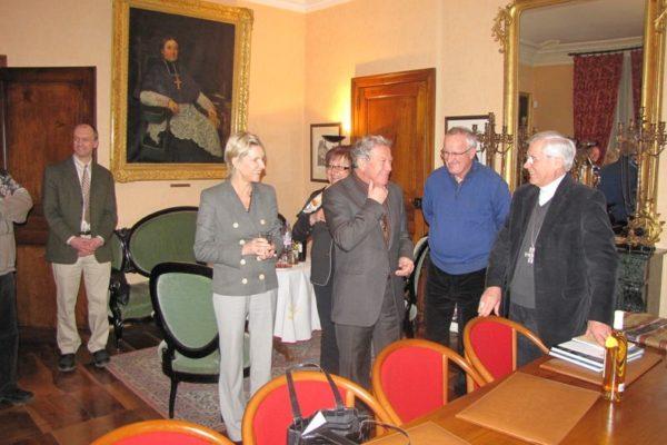 Des élus du canton d'Embrun à la Maison épiscopale