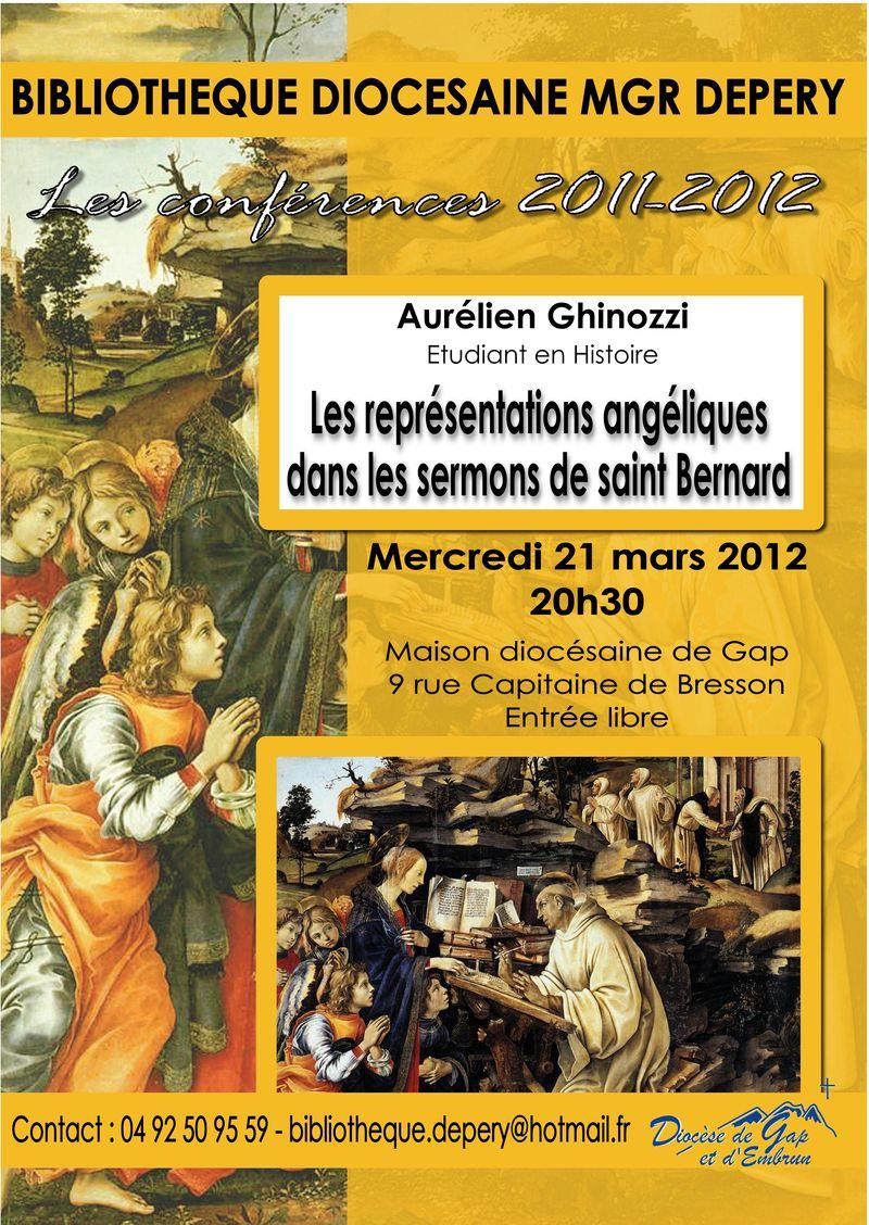 Les représentations angéliques dans les sermons de saint Bernard, conférence d'Aurélien Ghinozzi