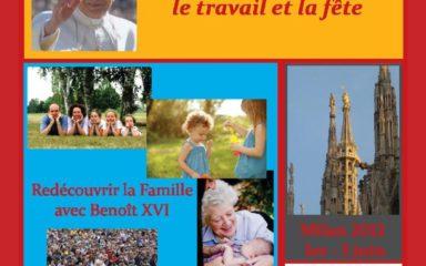 La famille, patrimoine d'humanité – Rendez-vous des familles à Milan du 1er au 3 juin 2012