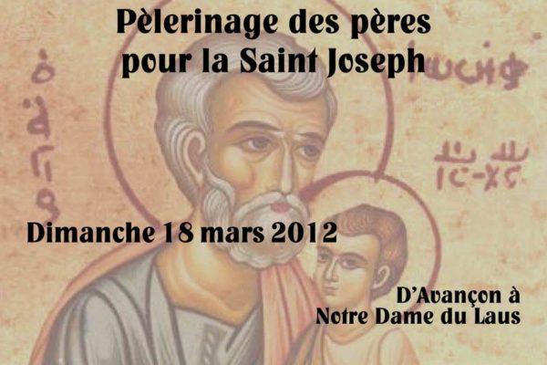 Dimanche 18 mars – Pèlerinage des pères de famille à l'approche de la Saint-Joseph
