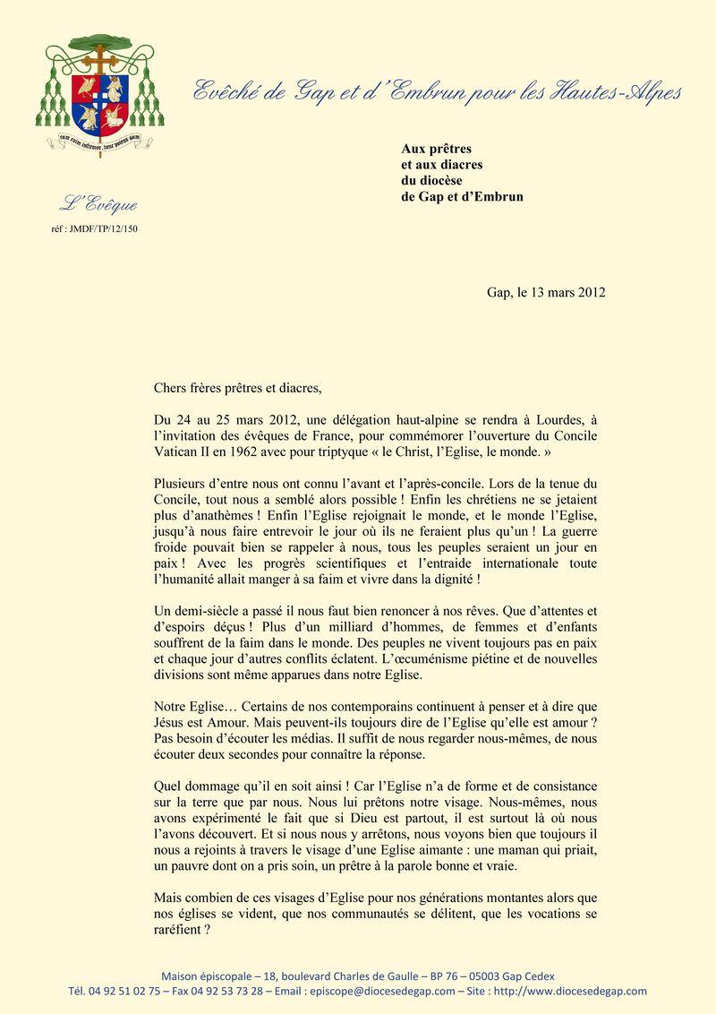 Mgr Jean-Michel di Falco Léandri s'adresse à ses prêtres et à ses diacres