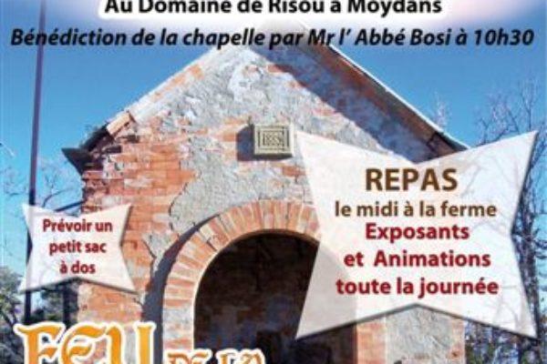 Feu de la Saint-Jean – Samedi 23 juin – Pèlerinage à la chapelle Saint-Jean à Moydans