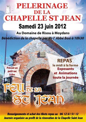 You are currently viewing Feu de la Saint-Jean – Samedi 23 juin – Pèlerinage à la chapelle Saint-Jean à Moydans