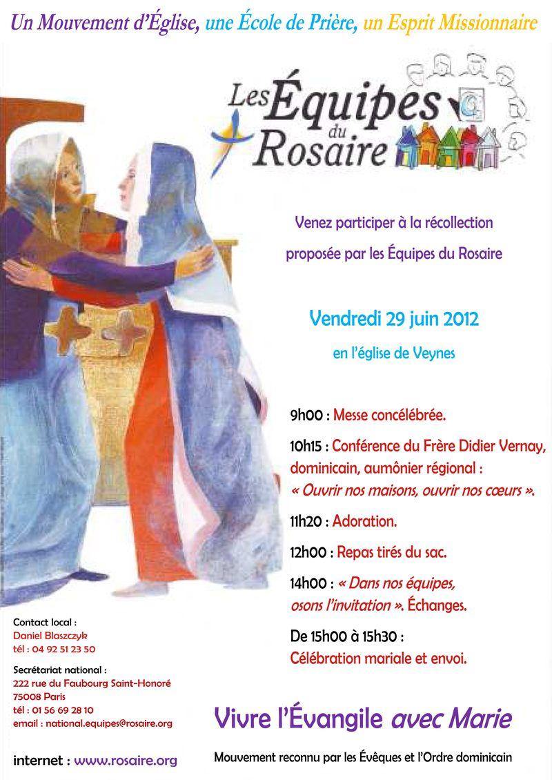 Récollection des Équipes du Rosaire