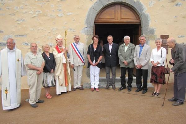 Bénédiction de l'église de Saléon restaurée
