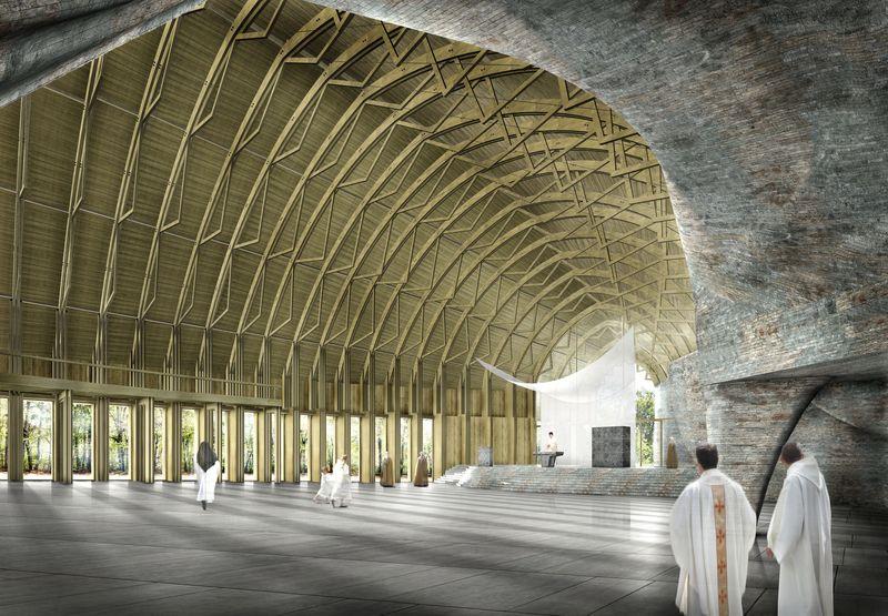 Projet d'une nouvelle église modulable pour le Laus