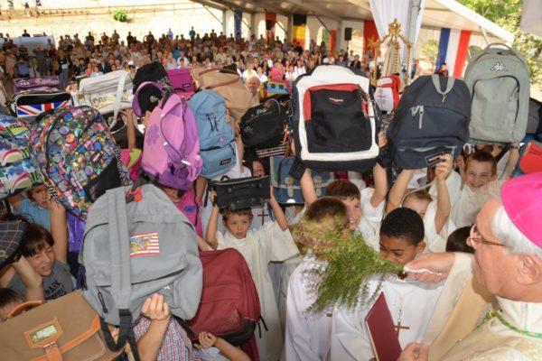Fête des cartables au sanctuaire du Laus et visite de l'école Sainte-Jeanne-d'Arc à Gap