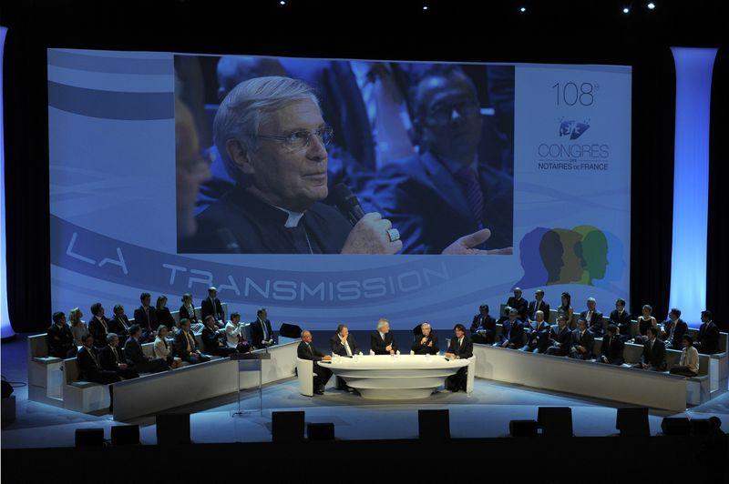 Mgr Jean-Michel di Falco Léandri au 108e Congrès des notaires de France