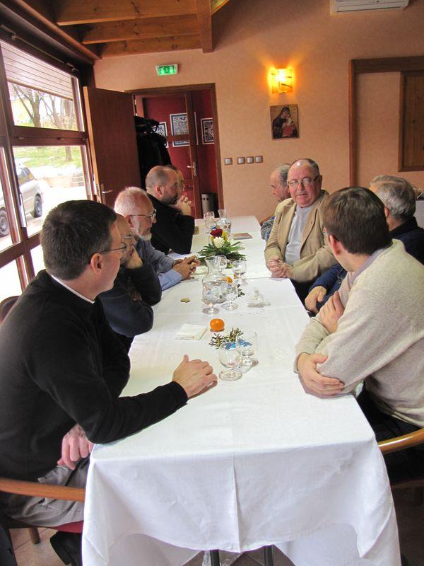 Repas de fête à la Maison épiscopale
