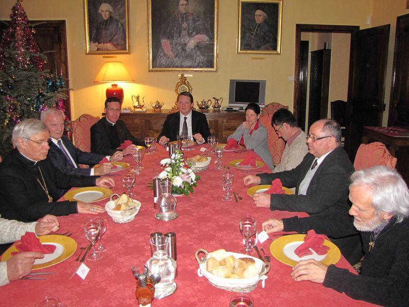Les maires de la vallée de l'Avance reçus à la Maison épiscopale