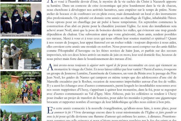 Chronique 2012 de l'abbaye de Rosans