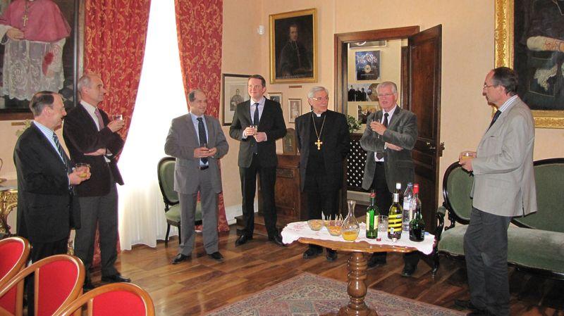 Déjeuner des responsables des chambres consulaires à la Maison épiscopale
