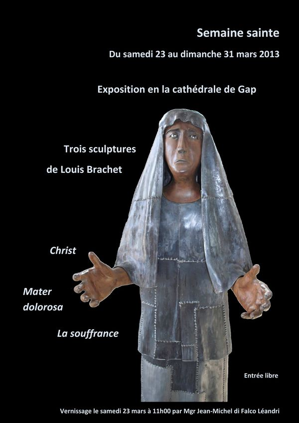Exposition de sculptures en fer forgé de Louis Brachet en la cathédrale de Gap