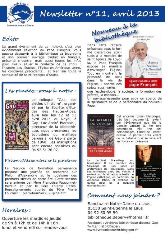 Le Pape François à la bibliothèque diocésaine