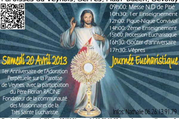 Journée eucharistique à Veynes
