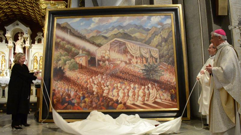 Une œuvre monumentale généreusement offerte au sanctuaire du Laus