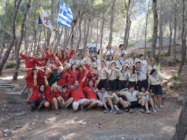 Les scouts de Gap avec les scouts grec