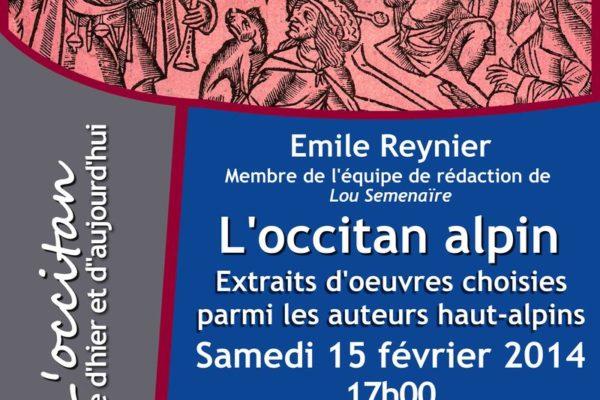 Causerie sur l'occitan alpin