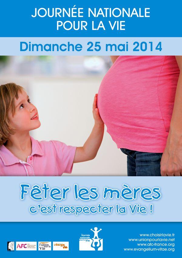 You are currently viewing Dimanche 25 mai : Fête des mères = Journée pour la vie