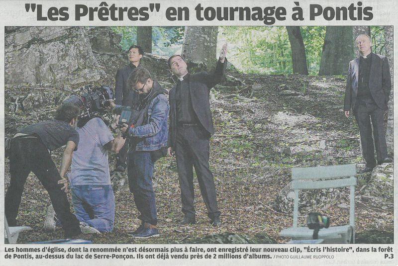 """""""Les Prêtres"""" ont tourné leur dernier clip à Pontis"""