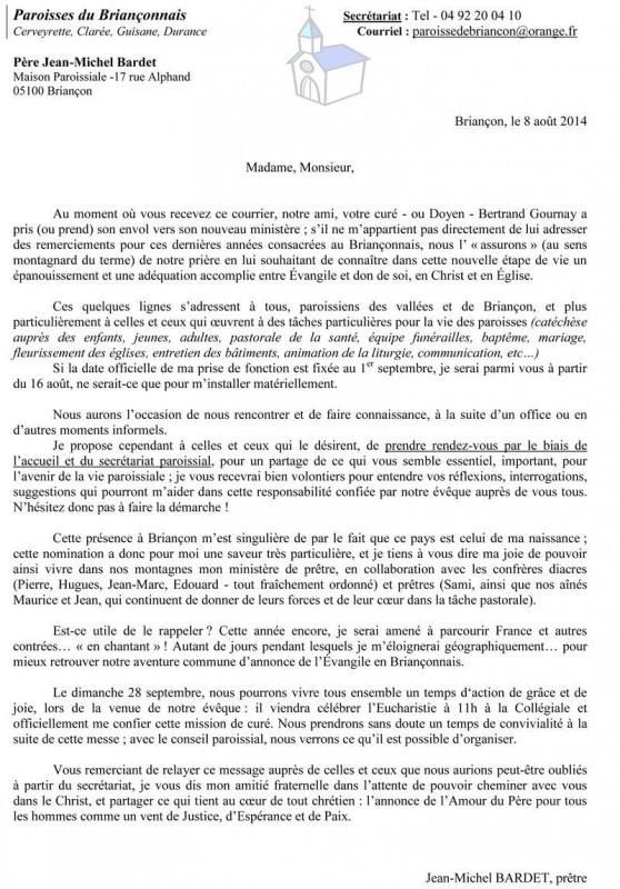 Dioc se de gap et d 39 embrun mot du p re jean michel - Table pastorale de la bible en ligne ...