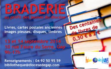 Vente de livres par la Pastorale des jeunes les 13 et 14 septembre