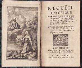 Notre-Dame du Laus dans la littérature imprimée et manuscrite (XVIIIe-XIXe siècles)