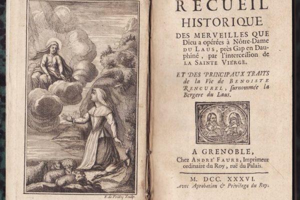 Conférence sur Notre-Dame du Laus dans la littérature manuscrite et imprimée des XVIIIe et XIXe siècles