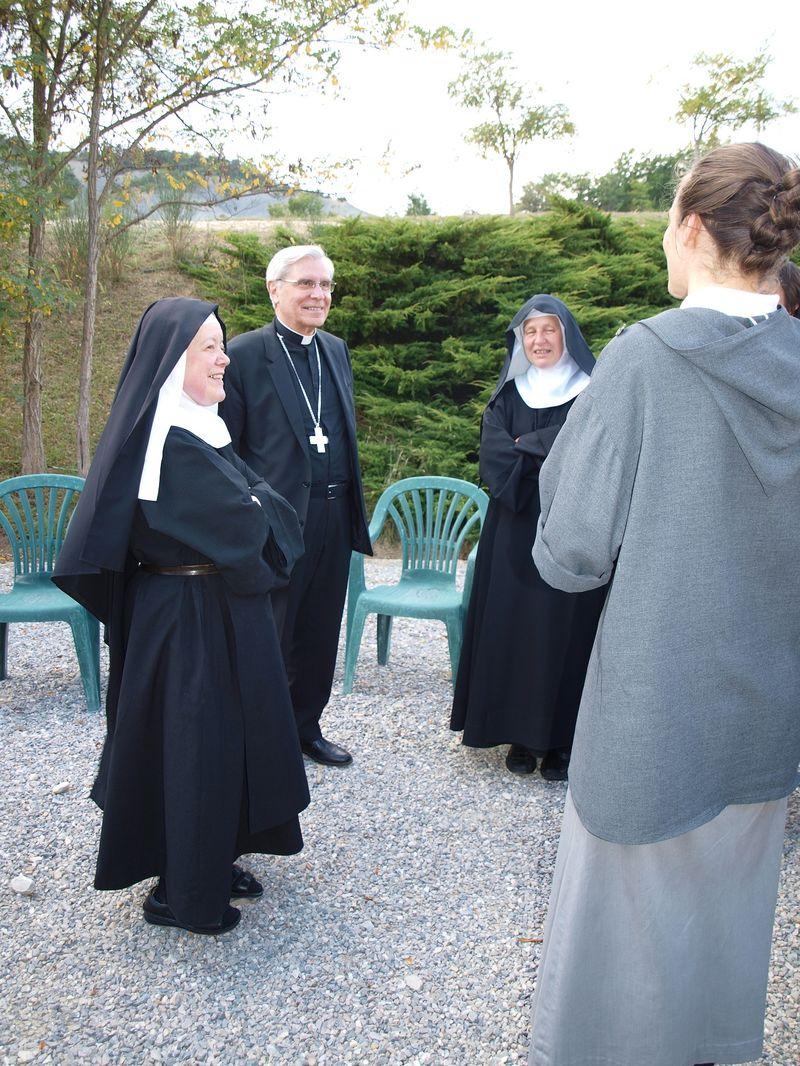 Visite à l'abbaye à la suite de la fête du terroir à Rosans