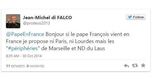 Le pape à Marseille et à Notre-Dame du Laus ? Facebook et Twitter sont de la partie