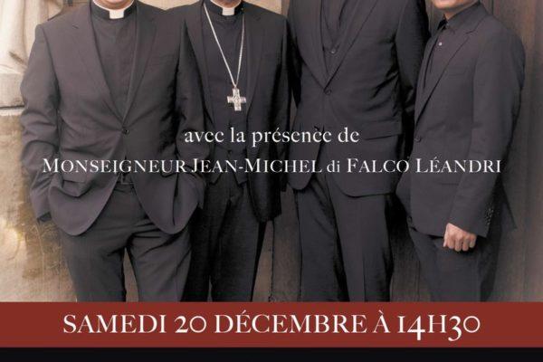 """Dédicace du groupe """"Les Prêtres"""" à Embrun"""