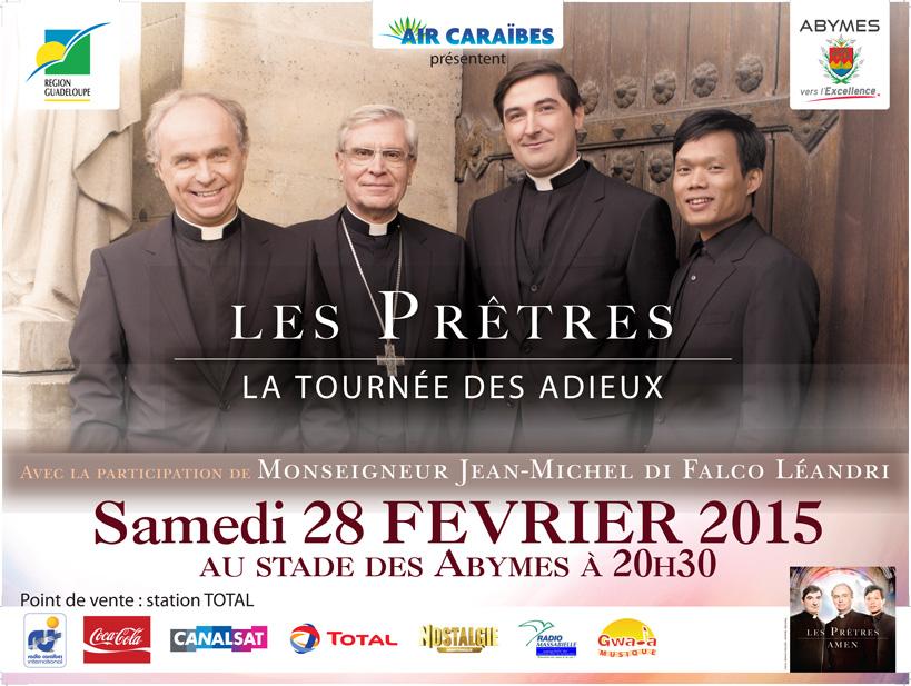 Les Prêtres bientôt en concert en Guadeloupe !