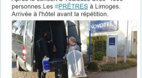 La tournée du groupe «Les Prêtres» à Toulouse, Limoges, Tours, Alençon et Rennes