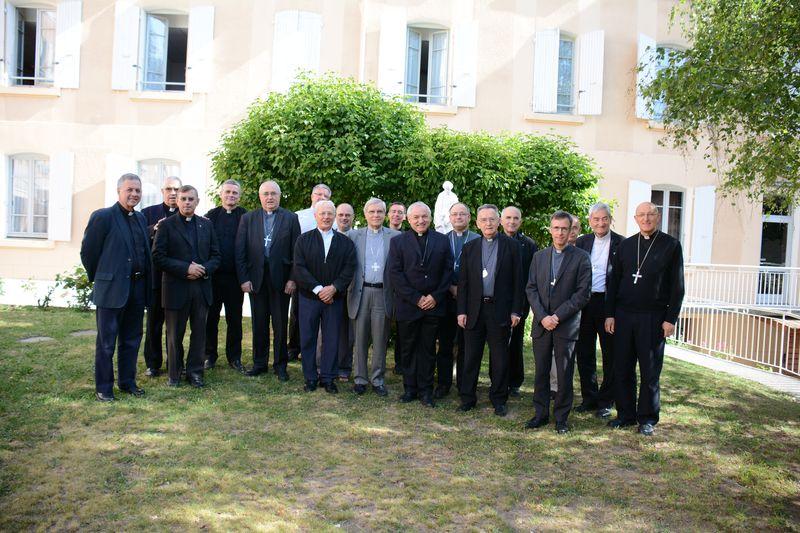 Les évêques et les vicaires généraux de la province de Marseille au sanctuaire Notre-Dame du Laus