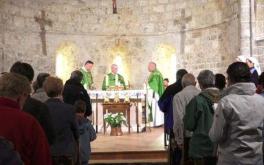 Mgr Jean-Michel di Falco Léandri en Haute-Romanche
