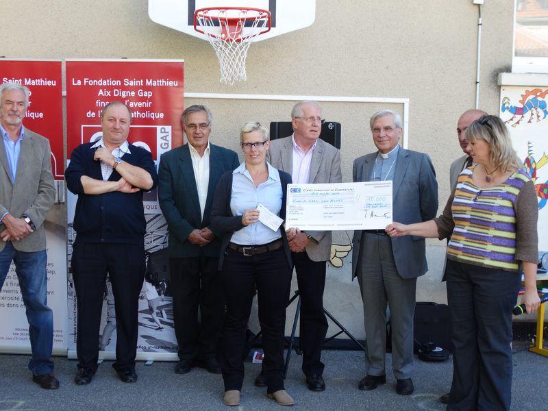 10 000 euros pour l'école Sainte-Agnès de Tallard