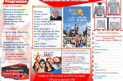 Tu peux t'inscrire dès maintenant aux prochaines JMJ !