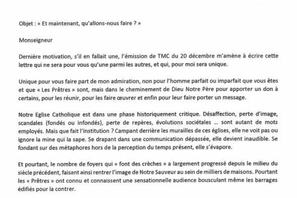 """Réaction d'un téléspectateur au passage du groupe """"Les Prêtres"""" sur la chaîne TMC"""