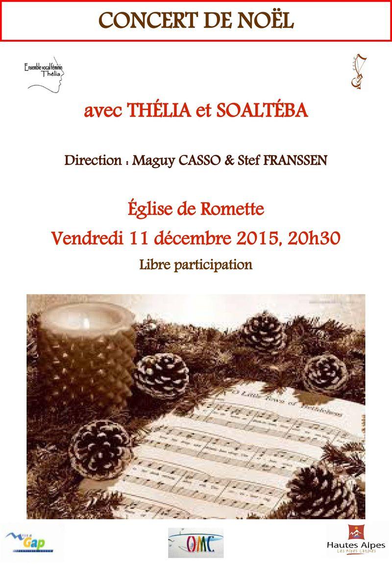 Concert de Noël à l'église de Romette