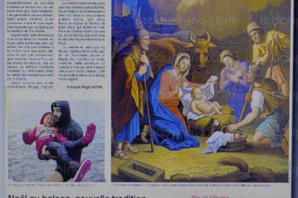 Une toile de l'église de Vallouise à la Une de Ouest-France