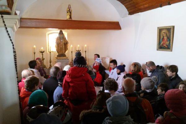 Messe sous les flocons à Notre-Dame des Neiges